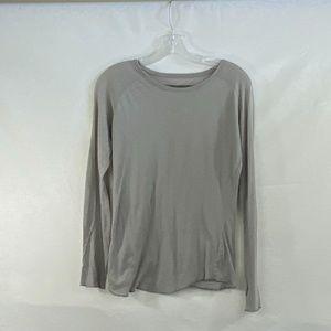 Enza Costa Gray Long Sleeve - M